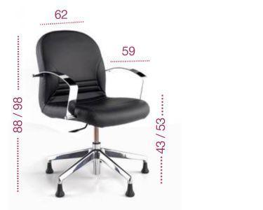 Medidas sillón oficina Center con respaldo bajo para tecno ofiss
