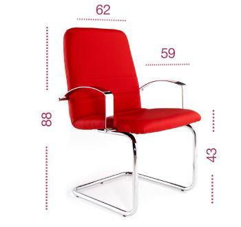 Medidas sillón confidente Confort de tecno ofiss