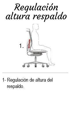 Regulacion altura respaldo