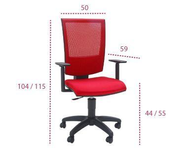 Medidas silla open red de tecno ofiss