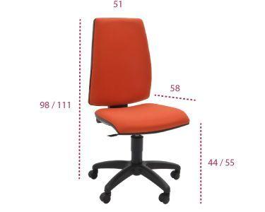 Medidas silla trabajo Open de tecno ofiss