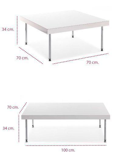 Medidas mesa baja sala de espera steel de tecno ofiss