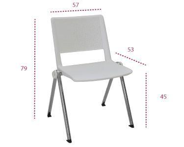 Medidas silla track 4 patas de tecno ofiss