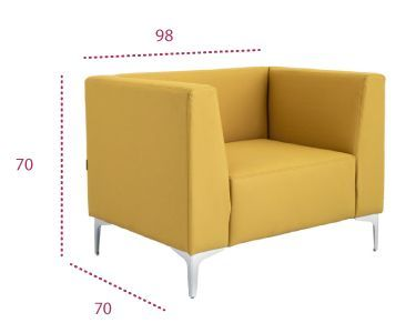 Medidas sofá modular curve 1 plaza