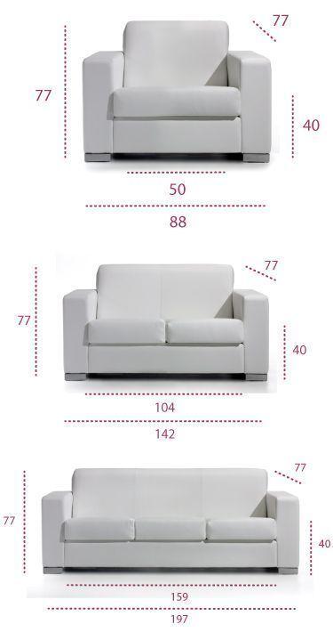 Medidas sofá living de universal
