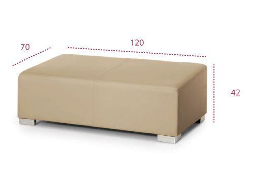Medidas pouf rectangular serie Park de universal