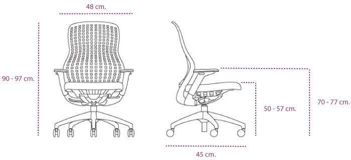 Medidas silla de trabajo axel de vincolo