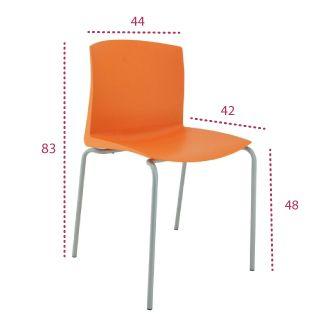 Medidas silla multiusos cloe de vincolo