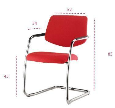 Medidas silla confidente tapizado urban de vincolo