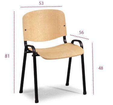 Medidas silla madera xauen de tecno ofiss