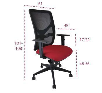 Medidas silla oficina xarly de vincolo