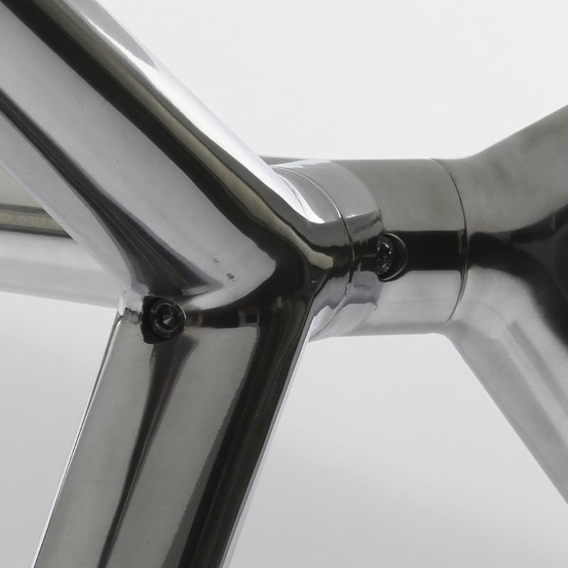 detalle estructura aluminio mesa serie b-table de jgorbe