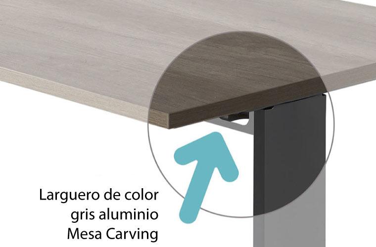 Detalle tablero de la mesa Aneto y Carving